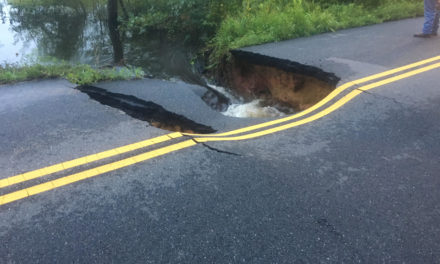 Indian Road in Gloucester Closed with Washout